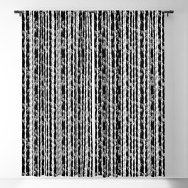 Bamboo Forest Pattern - Black White Grey Blackout Curtain