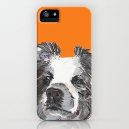 Border Collie printed from an original painting by Jiri Bures iPhone Case
