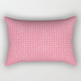 Pink Dot Pattern Design Rectangular Pillow