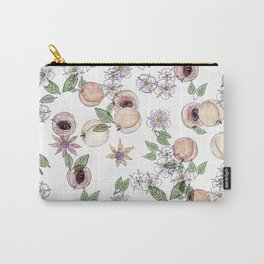 Watercolor pattern with apricots and flowers Carry-All Pouch