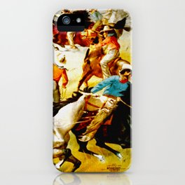 Vintage Wild West Show Poster iPhone Case