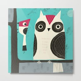 BIRD BUDDIES Metal Print