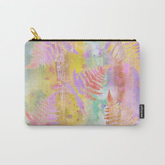 Colorful Fern Leaves W Carry-All Pouch