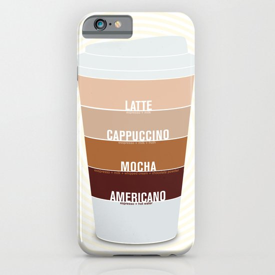 four shades of coffee + ingredients iPhone & iPod Case