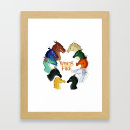 Wings of Fire Dragon - All Together Painting Framed Art Print