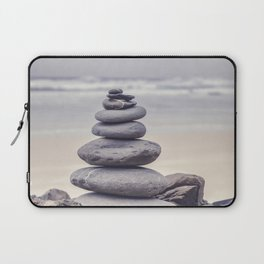 Stone Tower At A Wild Portuguese Beach Laptop Sleeve