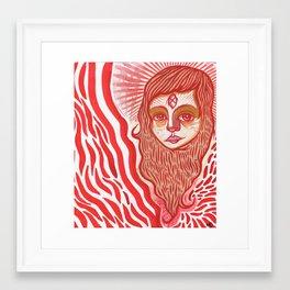 Red ghost girl Framed Art Print