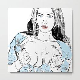 Megan Fox Metal Print