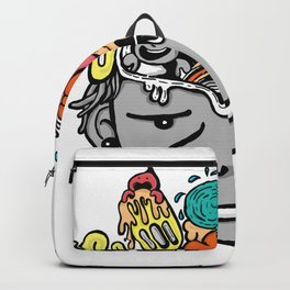 Positive thinking positive life Backpack