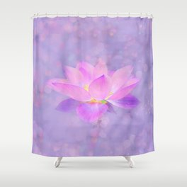 Lotus Emerging from the Water Shower Curtain