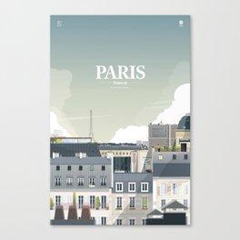 Alone In Paris - Paris s'éveille (Paris wake up) Canvas Print