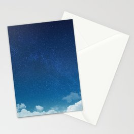 Blue Starry Sky Stationery Cards