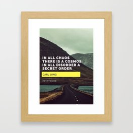 Carl Jung Order Chaos Framed Art Print