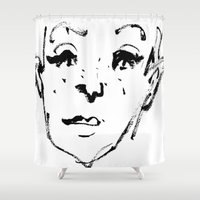 sketch Shower Curtains featuring Sketch by Ju/Graphique