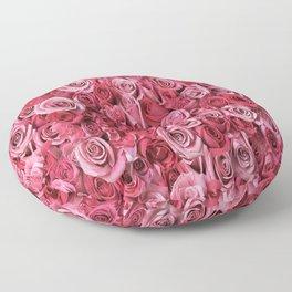 Pink Rose Buds Floor Pillow