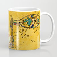 egyptian Mugs featuring Egyptian Fusion by BohemianBound