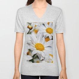 Daisy Flowers 0136 Unisex V-Neck