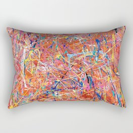 Orange Expression Rectangular Pillow