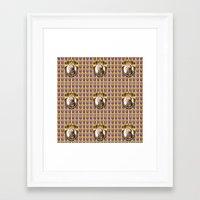 mozart Framed Art Prints featuring Mozart Wallpaper by Glenn Designs