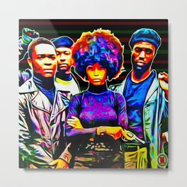 """""""BLACK POWER: WHO STOLE THE SOL?"""" Metal Print"""