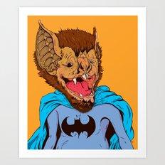 Bat-mania Art Print