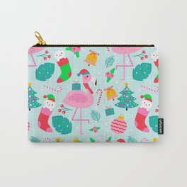 Flamingo Cat Christmas Pattern Carry-All Pouch