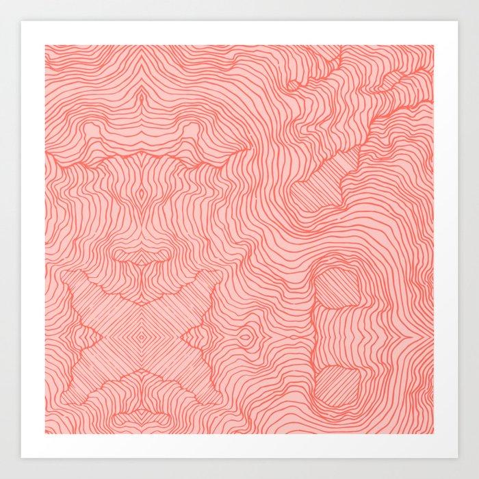 Living Coral Lines Kunstdrucke
