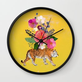 Tiger Bloom Wall Clock
