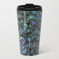 Abalone Shell | Paua Shell | Natural Metal Travel Mug