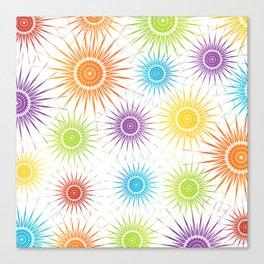 Colorful Christmas snowflakes pattern- holiday season gifts Canvas Print