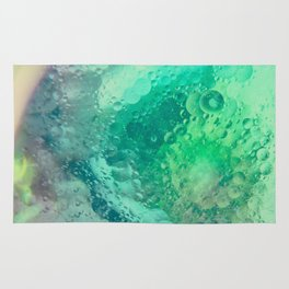 Underwater Macro Photography With Green Bubbles Rug