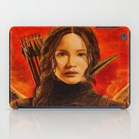 katniss iPad Cases featuring Katniss Everdeen by Tiffany Singh