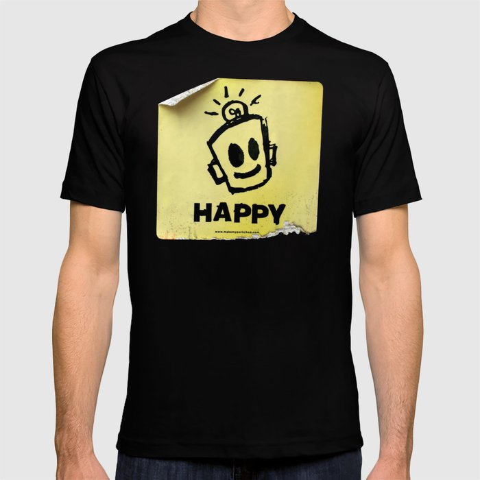 THE HAPPY STICKER T-shirt