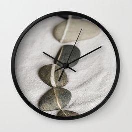 zen pebble line Wall Clock
