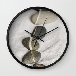 zen pebble line Wall Clock