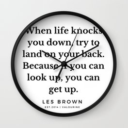 30  |  Les Brown  Quotes | 190824 Wall Clock