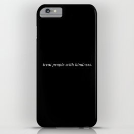 Treat people with kindness | Harry Styles (White) iPhone Case