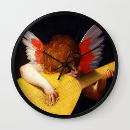 Rosso Fiorentino Musical Angel Wall Clock