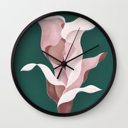 Arum-lily day Wall Clock