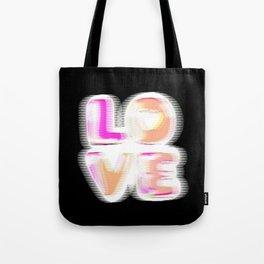 Glitch (black background) #typographyart #lettering #gimp #buyart Tote Bag