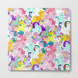 G1 my little pony pattern Metal Print
