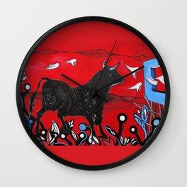 Trapped Bull Wall Clock