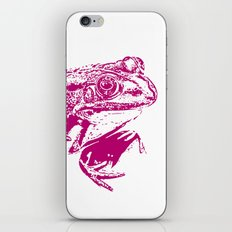 pink frog IV iPhone & iPod Skin