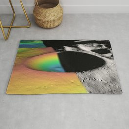 Rainbow Moon Craters Rug