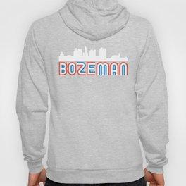 Red White Blue Bozeman Montana Skyline Hoody