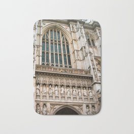 Gothic Westminster Abbey London Photo by Larry Simpson Bath Mat