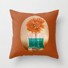 TURQUOISE & ORANGE Throw Pillow