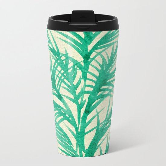 Mint Palms Metal Travel Mug