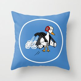 Jet Duck Throw Pillow