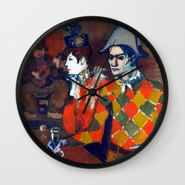 Pablo Picasso At the Lapin Agile Wall Clock